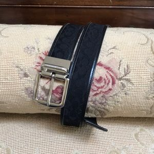 COACH BLACK CANVAS BELT